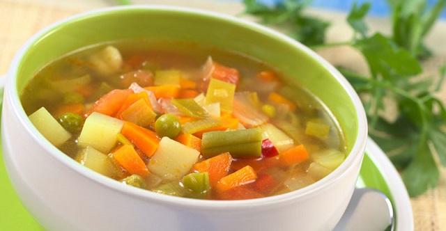 une soupe bonne pour le repas du soir