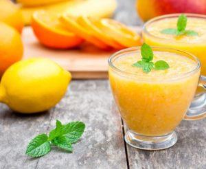 smoothie orange et citron